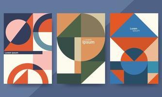 uppsättning bakgrunder med trendig design. perfekt för omslag, affischer och banderoller vektor
