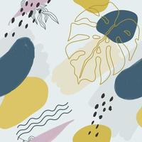 sömlösa mönster och abstrakt komposition, doodle former, trendig design vektor