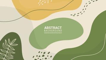 färgglad abstrakt organisk form och blad trendig designbakgrund vektor