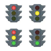 uppsättning trafikljus vektor