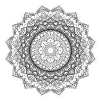 Dekorativ mandala design 3005 vektor