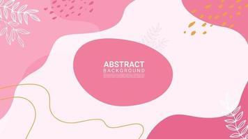 färgglad abstrakt organisk form och lämnar trendig designbakgrund vektor
