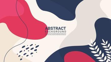 färgrik abstrakt organisk form trendig designbakgrund vektor
