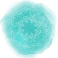 Dekorativ mandala design på akvarellstruktur vektor