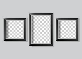 realistische leere Rahmengalerie Foto vektor