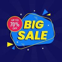 stor försäljning reklam banner mall vektor
