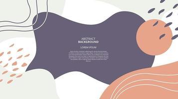 abstrakter flacher Fluss formt Hintergrund vektor