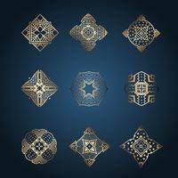 Insamling av eleganta märkesdesigner vektor