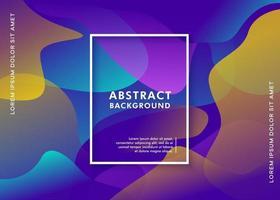 abstrakter flüssiger Gradientenhintergrund vektor
