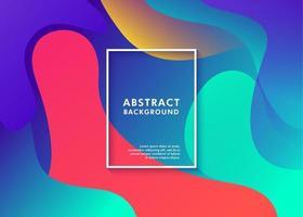 bunte abstrakte Hintergrunddynamikflüssigkeit vektor