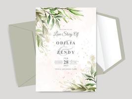 schöne Blumenhand gezeichnete Hochzeitseinladungskarte vektor