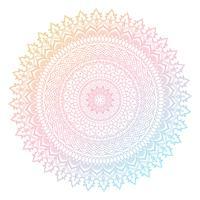 Färgrik mandala design vektor
