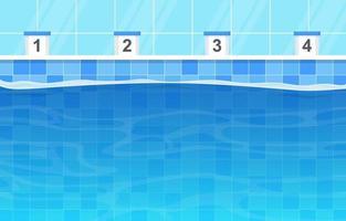 Schwimmbad mit Fahrspuren und Fahrspurmarkierungen vektor