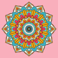 Bunte Mandala Hintergrunddesign vektor