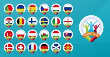 fotboll 2020-landslaget vektor