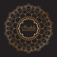 Luxus-Mandala-Hintergrund vektor