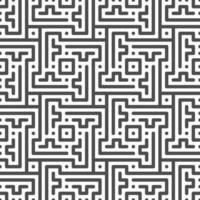 abstrakte nahtlos gedrehte Zick-Zack-Linie, Punkt, quadratische Formen Muster. abstraktes geometrisches Muster für verschiedene Designzwecke. vektor