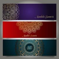 Lyxiga banderoller med mandala design
