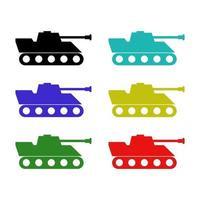 Tank auf weißem Hintergrund eingestellt vektor