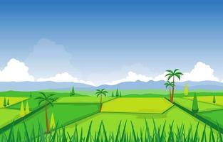 risfältfält redo för skördillustration