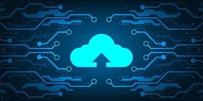 Cloud-Netzwerk, das verschiedene Informationen über digitale Systeme hochlädt.