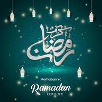 Ramadan Kareem islamischer Feiertagsvektorentwurf. Marhaban ya Ramadan vektor