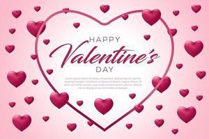 glücklicher Valentinstaghintergrund vektor