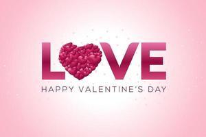 glücklicher Valentinstaghintergrund