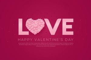 glad Alla hjärtans dag bakgrund vektor