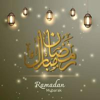 ramadan mubarak islamisk firande bakgrundsdesignvektor