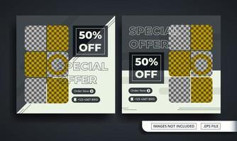 specialerbjudande mode tema sociala medier postmall vektor