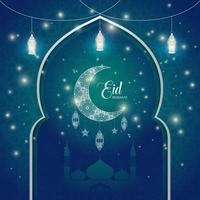 Eid Mubarak Luxus Hintergrund mit islamischen Ornamenten. vektor