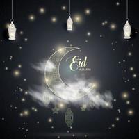 eid islamischer Feiertagshintergrund-Entwurfsvektor vektor