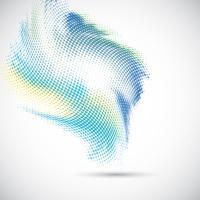 Abstrakt halvton prickar design vektor
