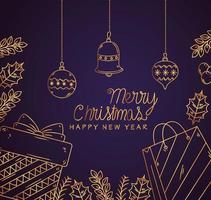 Frohe Weihnachten und ein gutes neues Jahr Banner vektor