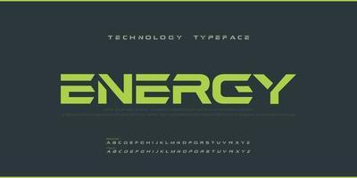 Sport moderne Zukunft kühne Alphabet Schriftart. Typografie urban reguläre und kursive Schriftarten für Technologie, Digital, Filmlogo Fettdruck. Vektorillustration vektor