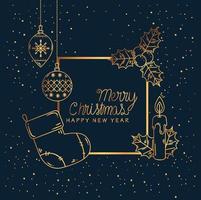 god jul och gott nytt år banner vektor