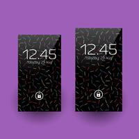 Retro Smartphone-Tapetenentwürfe