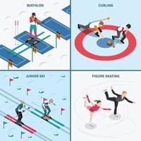 vintersport isometriska människor 2x2 vektor
