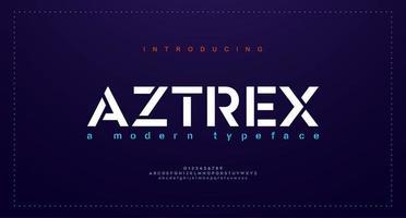 abstrakte moderne städtische Alphabetschriftarten. Typografie Sport, einfach, Technologie, Mode, digital, zukünftige kreative Logo-Schriftart. Vektorillustration vektor