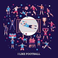 fotbollssammansättning vektor