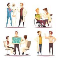 ortopedläkare designkoncept