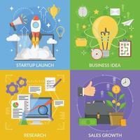 Startup-Projektentwicklungskonzept 2x2 vektor