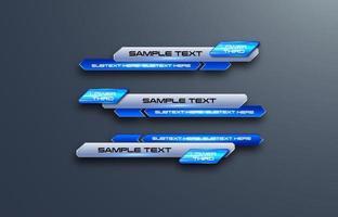 futuristisk design vektor gränssnitt lägre tredje banner barer. strömmande video. banbrytande, sportnyheter.