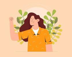 Blumen glücklich Frauentag Design vektor