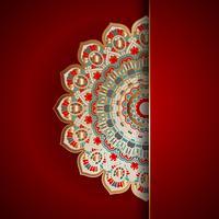Lyx mandala bakgrund vektor
