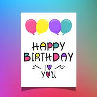 Födelsedag ballonger kort