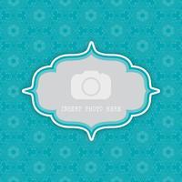 dekorativer Hintergrund mit Rahmen für Foto 0803 vektor