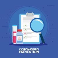 medicinsk vaccinforskning för koronavirus vektor