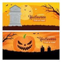 Happy Halloween Banner Set vektor